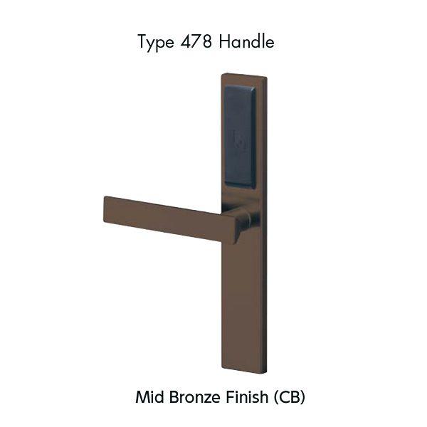 MIWA ALV2 Slim Type 478 Handle