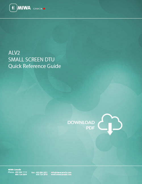 ALV2-Small-Screen-DTU-Quick-Reference-En-1 download